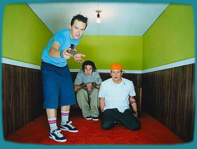 Enter to Blink 182 homepage